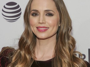 """FILE - In this Sunday, April 22, 2018 file photo, producer Eliza Dushku attends a screening of """"Mapplethorpe"""" at the SVA Theatre during the 2018 Tribeca Film Festival in New York. CBS reached a $9.5 million confidential settlement last year with actress Dushku after on-set sexual comments from Michael Weatherly, star of the network's show """"Bull,"""" made her uncomfortable. CBS confirmed the settlement Thursday, Dec. 13, 2018."""