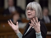 Employment, Workforce Development and Labour Minister Patricia Hajdu responds to a question during Question Period in the House of Commons Thursday November 22, 2018 in Ottawa. THE CANADIAN PRESS/Adrian Wyld ORG XMIT: CPT501