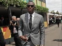 Usain Bolt attends the Mumm Marquee on Derby Day at Flemington Racecourse on November 3, 2018 in Melbourne, Australia. (Scott Barbour/Getty Images)