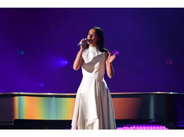US singer-songwriter Kacey Musgraves performs during the 61st Annual Grammy Awards on February 10, 2019, in Los Angeles.