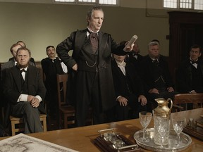 Still image from the Heritage Minute featuring Sir George-Etienne Cartier, the key Father of Confederation from French Canada and Sir John A. Macdonald's most important ally in the federation project.