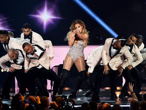 Jennifer Lopez performs during the 61st Annual Grammy Awards at Staples Center in Los Angeles on Sunday, Feb. 10, 2019.  Getty Images for The Recording Academy