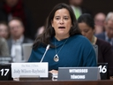 Jody Wilson Raybould delivers her opening statement as she appears at the Justice committee meeting in Ottawa, Wednesday, February 27, 2019.