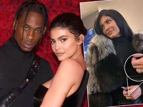 Travis Scott and Kylie Jenner. (Getty Images and Instagram photos)