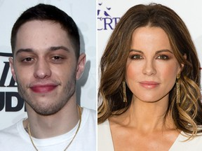 Pete Davidson and Kate Beckinsale. (Getty Images)