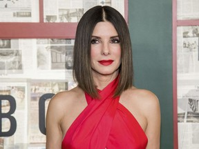 """In this Monday, Dec. 17, 2018 file photo, Sandra Bullock attends a screening of """"Bird Box"""" at Alice Tully Hall in New York."""