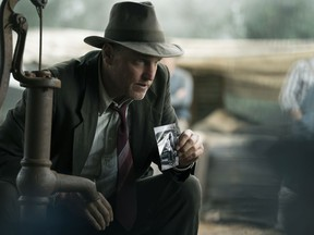 """This image released by Netflix shows Woody Harrelson in a scene from """"The Highwaymen."""""""