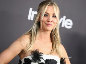 Kaley Cuoco attends the InStyle And Warner Bros. Golden Globes After Party 2019 at The Beverly Hilton Hotel on Jan. 6, 2019 in Beverly Hills, Calif.  (Rich Fury/Getty Images)