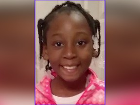 This photo provided by the Los Angeles County Sheriff's Office shows nine-year-old Trinity Love Jones, who was found dead in a duffel bag along a suburban Los Angeles equestrian trail on March 5, 2019.