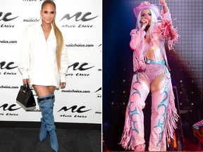 Cardi B (right) is joining Jennifer Lopez (left) in a new movie about a group of former erotic dancers who turn the tables on their rich Wall Street clients.