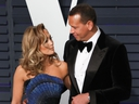 Jennifer Lopez and Alex Rodriguez  attend the 2019 Vanity Fair Oscar Party following the 91st Academy Awards at the Wallis Annenberg Center for the Performing Arts in Beverly Hills, California on Feb. 24, 2019.