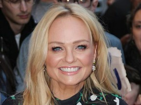 Emma Bunton attends the Global Gift Gala in Paris, France on April 25, 2018.