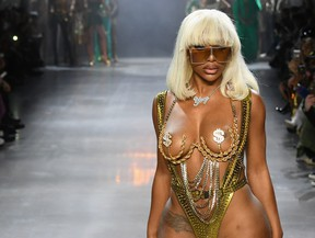Shannade Clermont walks the runway for The Blonds fashion show during New York Fashion Week: The Shows at Gallery I at Spring Studios on Feb. 12, 2019 in New York City.  (Mike Coppola/Getty Images for NYFW: The Shows)