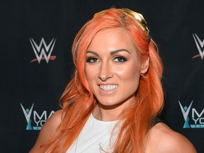 WWE Superstar Becky Lynch appears on the red carpet of the WWE Mae Young Classic on September 12, 2017 in Las Vegas, Nevada.