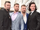 Left to right: Members of 'NSYNC, Chris Kirkpatrick, Lance Bass, JC Chasez and Joey Fatone.  (Alberto E. Rodriguez/Getty Images)