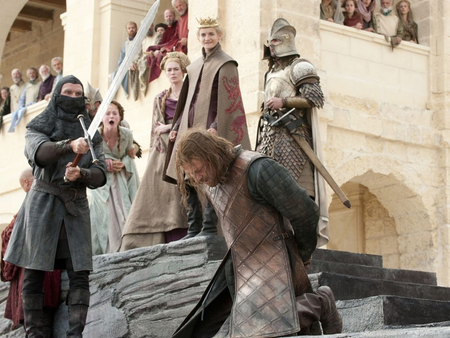 This photo of released by HBO shows Sean Bean portraying Eddard Stark in