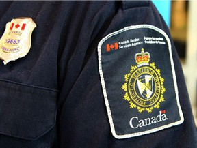 A Canadian Border Services Agency (CBSA) officer's shoulder flash. (Postmedia files)