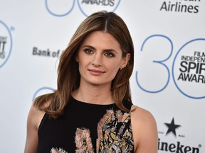 Stana Katic arrives at the 30th Film Independent Spirit Awards in Santa Monica, Calif., on Feb. 21, 2015.