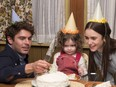 """This image released by Netflix shows Zac Efron, left, and Lily Collins, right, in a scene from """"Extremely Wicked, Shockingly Evil, and Vile."""" (Brian Douglas/Netflix via AP)"""