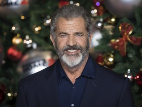 """This Nov. 16, 2017 file photo shows actor Mel Gibson at the premiere of """"Daddys Home 2,"""" in London."""