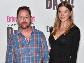 Scott Grimes and Adrianne Palicki attend Entertainment Weekly's Comic-Con Bash held at FLOAT, Hard Rock Hotel San Diego on July 21, 2018 in San Diego, Calif., sponsored by HBO  (Mike Coppola/Getty Images for Entertainment Weekly)