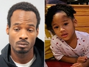 Darion Vence (L), the man who reported four-year-old Maleah Davis had been abducted from him last weekend was arrested near Houston Saturday, May 11, 2019 in connection with her disappearance.