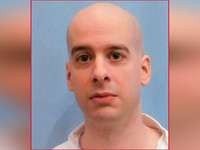 This photo provided by the Alabama Department of Corrections shows Michael Brandon Samra.