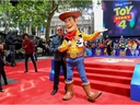 Tom Hanks and Woody attend the European premiere of Disney and Pixar's