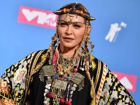 In this file photo taken on August 21, 2018 Madonna poses in the press room at the 2018 MTV Video Music Awards at Radio City Music Hall on August 20, 2018 in New York City.