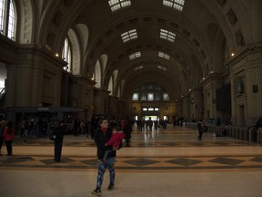 General view of Buenos Aires' Constitucion railway station during the massive blackout in Argentina on Sunday, June 16, 2019.