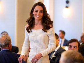 Britain's Catherine, Duchess of Cambridge, attends the Addiction Awareness Week Gala Dinner at Somerset House in London on Wednesday, June 12, 2019.