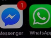 FILE PHOTO: WhatsApp and Facebook messenger icons are seen on an iPhone in Manchester , Britain March 27, 2017. REUTERS/Phil Noble/File Photo ORG XMIT: FW1