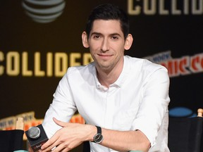 Max Landis speaks onstage during the Dirk Gently's Holistic Detective Agency - BBC AMERICA Official Panel during 2017 New York Comic Con on October 6, 2017 in New York City.