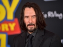 Keanu Reeves attends the premiere of Disney and Pixar's