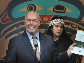 Premier John Horgan, announced the government will invest $1.46 million to send more B.C. athletes to the 2020 North American Indigenous Games in Halifax  Nick Procaylo/PNG