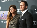 Katherine Schwarzenegger and Chris Pratt attend the Los Angeles World Premiere of Marvel Studios'