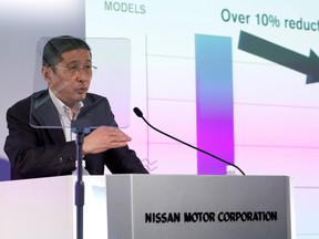 Nissan CEO Hiroto Saikawa attends a news conference to release first quarter earnings at the company headquarters in Yokohama, Japan July 25, 2019.   REUTERS/Issei Kato