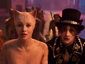 A screengrab from the trailer for the unreleased Cats movie.