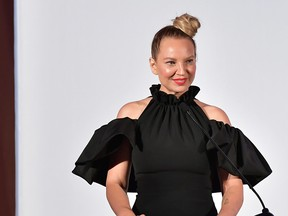 Sia speaks onstage duing The Daily Front Row Fashion LA Awards 2019 on March 17, 2019 in Los Angeles, Calif.  (Neilson Barnard/Getty Images for Daily Front Row)