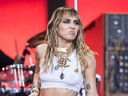 Miley Cyrus performs on the Pyramid stage on day five of Glastonbury Festival at Worthy Farm, Pilton on June 30, 2019 in Glastonbury, England. Ian Gavan/Getty Images