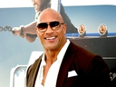 Dwayne Johnson arrives at the premiere of Universal Pictures'