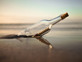 A 50-year-old message in a bottle is discovered along an Australian coast.