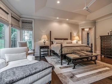 The master bedroom in the five-bedroom home. (REALTOR.COM)