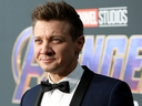 Jeremy Renner attends the Los Angeles World Premiere of Marvel Studios'