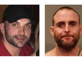 Richard Scurr, left, and Ryan Provencher are seen in this undated combination handout photo provided by the RCMP.