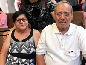 Juan de Dios Velazquez and his wife Estela Nicolosa, both caught in Saturday's shooting at a Walmart store in El Paso, Texas, are seen in this undated photo provided by their family, in Ciudad Juarez, Mexico August 5, 2019. (Photo courtesy of Velazquez Family/via REUTERS)