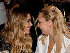 Ashley Benson, left, and Cara Delevingne attend TrevorLIVE NY 2019 at Cipriani Wall Street on June 17, 2019 in New York City. (Craig Barritt/Getty Images  for The Trevor Project)