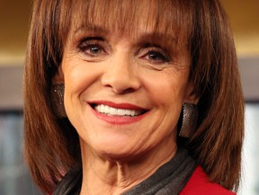 """Actress Valerie Harper visits """"FOX & Friends"""" at FOX Studios on April 17, 2014 in New York City.  (Monica Schipper/Getty Images)"""