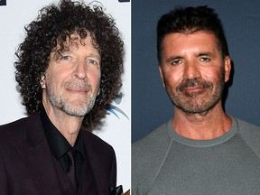 Howard Stern, left, and Simon Cowell. (Getty Images file photos)