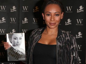 """Mel B meets fans and signs copies of her new memoir """"Brutally Honest"""" at Waterstones Bluewater on November 28, 2018 in Greenhithe, England."""